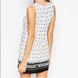ASOS Diamond and Tribal Pattern Shift Dress